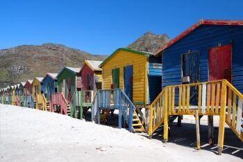 Beach huts, Muizenberg, Cape Town